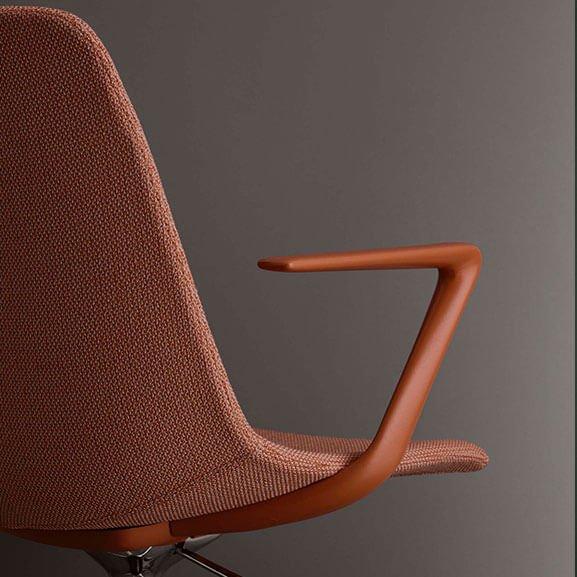 ola boss design meeting chair swivel upholstered arms
