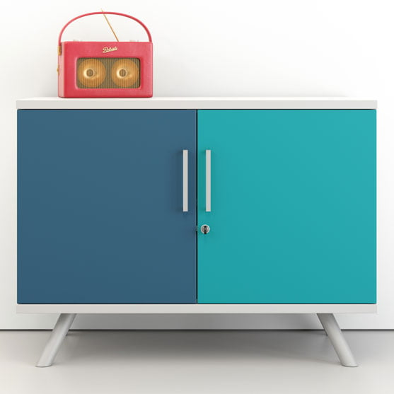 Flar Credenza in Two blue colours