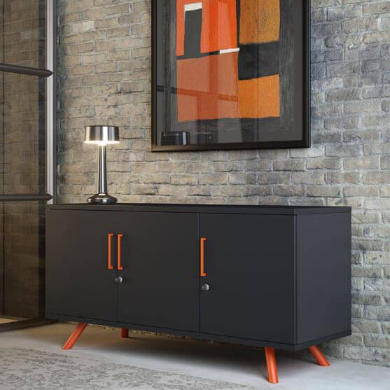Flare Black and Orange