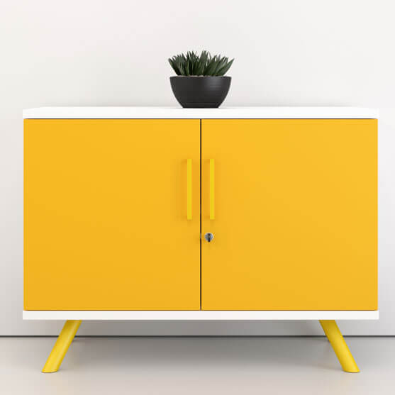Flare Credenza in Yellow