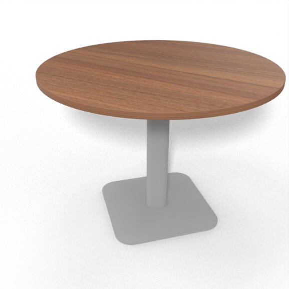 imperial sirius meeting table circular with square silver base