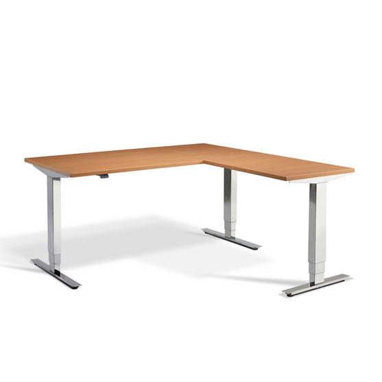 Heigh Adjustable Desk Beech Finish