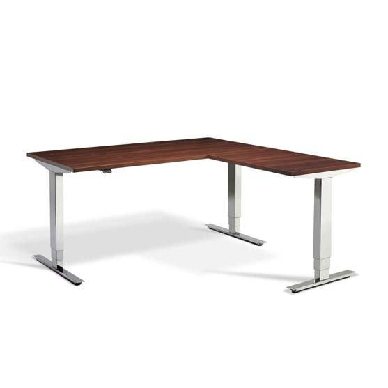 Height Adjustable Desk Walnut Finish