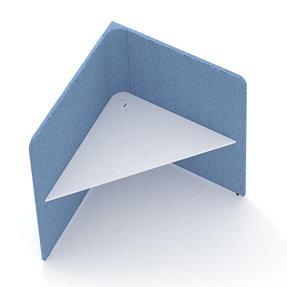 Blue screened single soli triangle