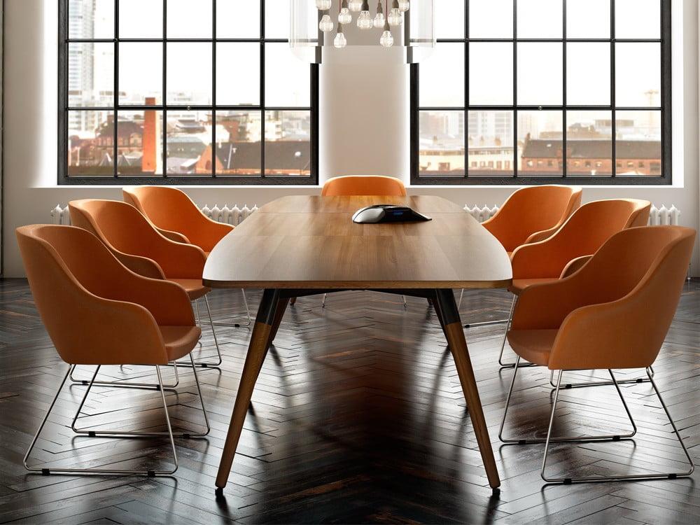 Bright stylish modern boardroom table