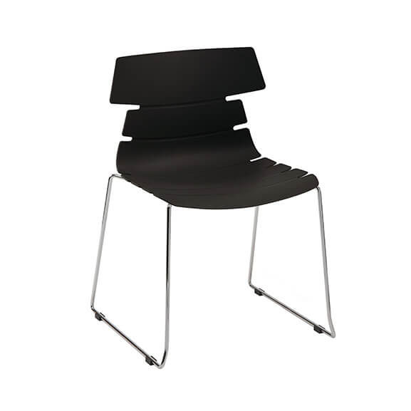 Aquilo bistro chair sled base air seating