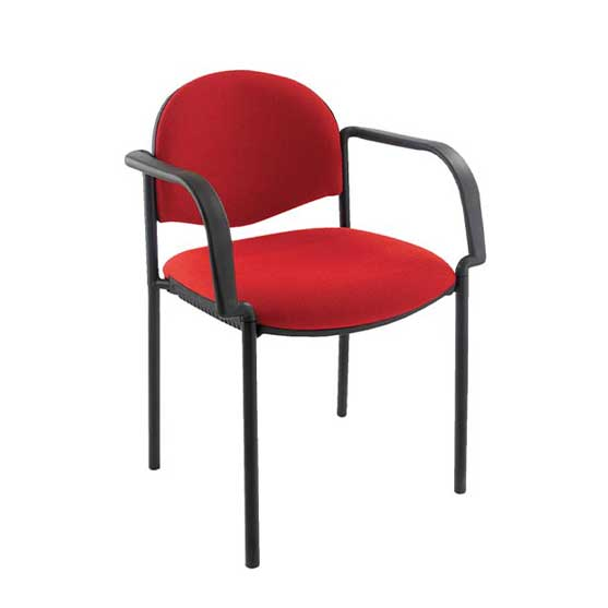 atom black 4 leg chair with arms air seating