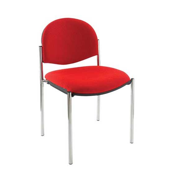 atom chrome 4 leg chair air seating