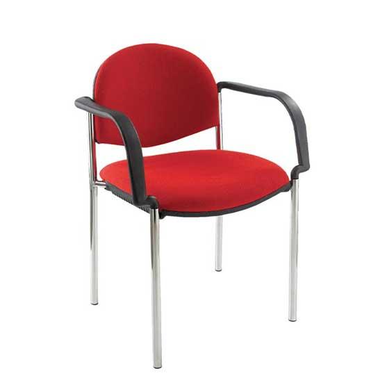 atom chrome 4 leg chair with arms air seating