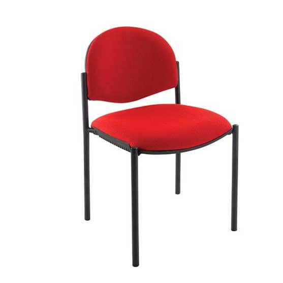 atom black 4 leg frame fully upholstered air seating