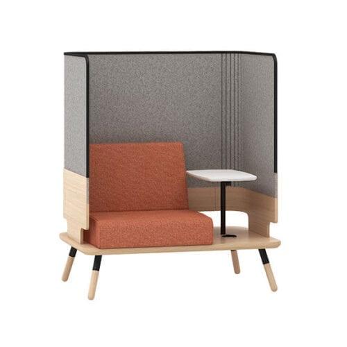 peacwork single sofa high back connection seating