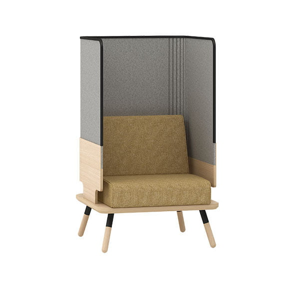 single high back sofa peawork connection seating