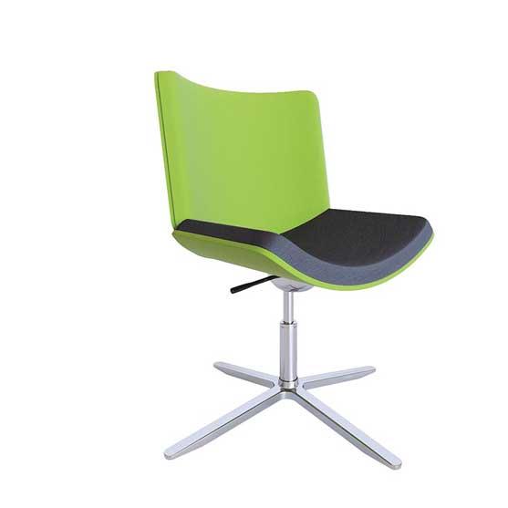 corona 4 star swivel base upholstered seat and back air seating
