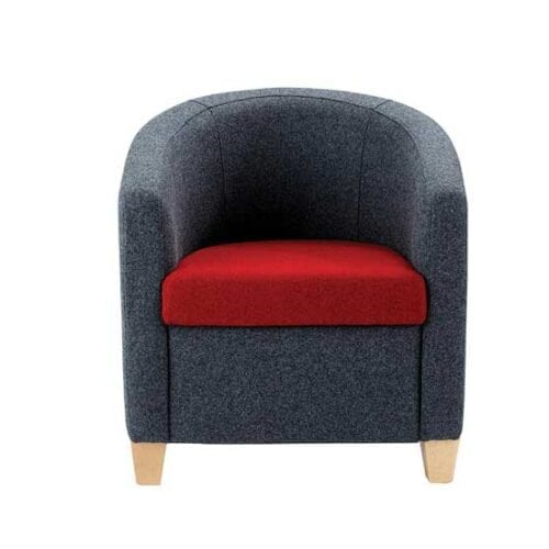 flite lounge chair wooden feet fully upholstered air seating