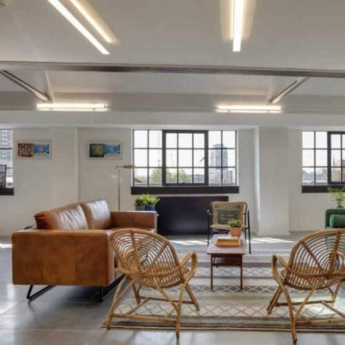 kingsland 3 seater sofa black frame workstories