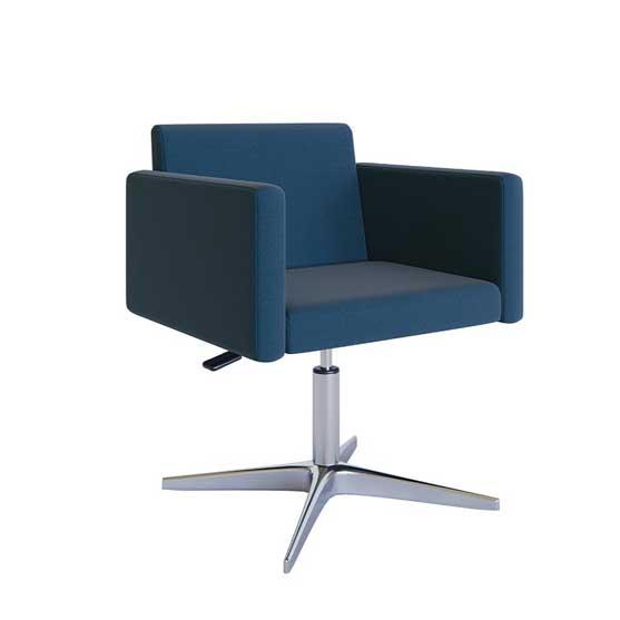 leste meeting chair chrome 4 star base air seating