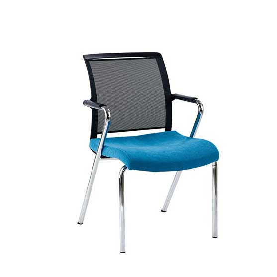 nino 4 leg chair black mesh