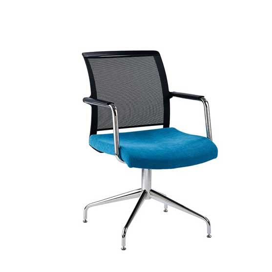 nino swivel base meeting chair black mesh back air seating