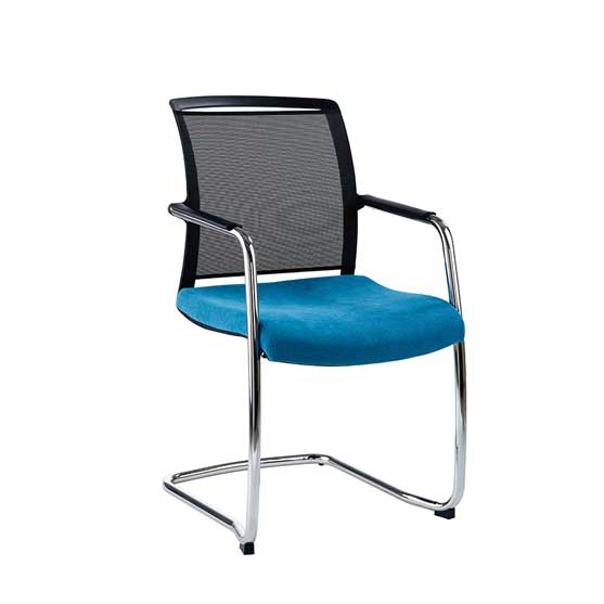 Nino cantilever chair black mesh back air seating