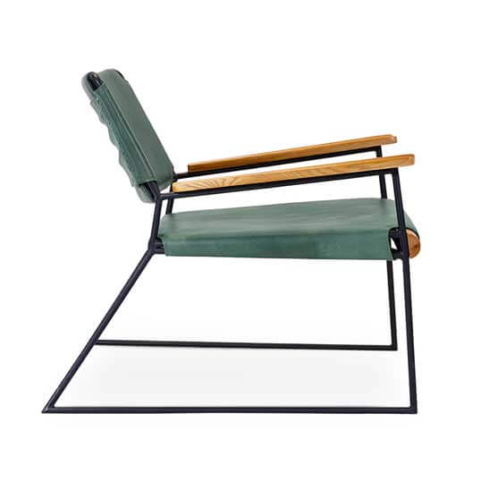 outlaw lounge fabric sled base lounge chair