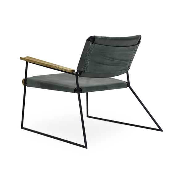 oulaw sled base fabric lounge chair