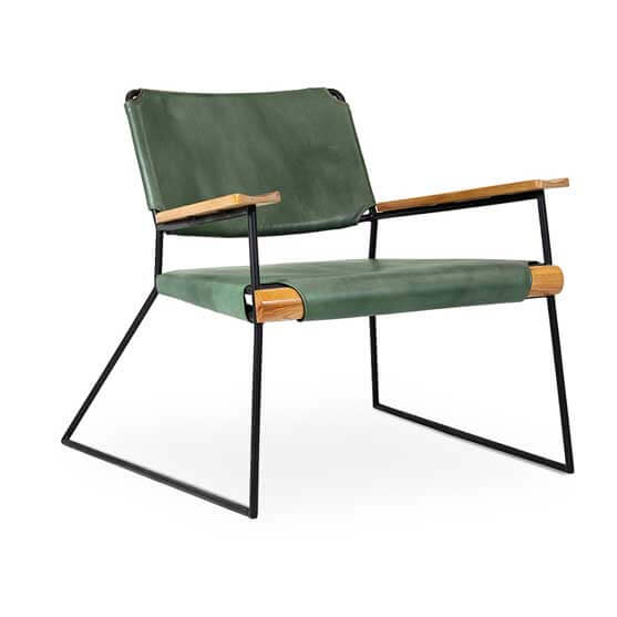 Lounge sled base chair with arms workstories