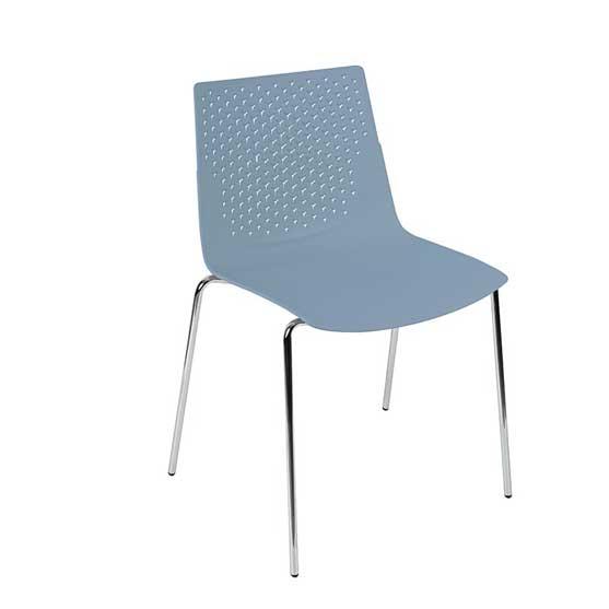 pali blue 4 leg chair air seating