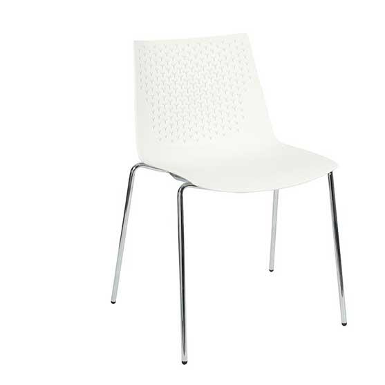 pali white 4 leg frame air seating