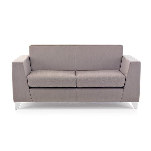 Synergy 2 seater sofa chrome legs pulse design