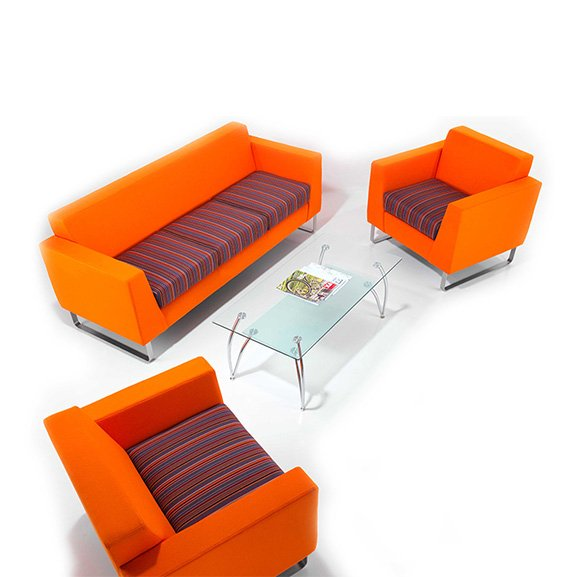 Synergy sofa two toned upholstery pulse design