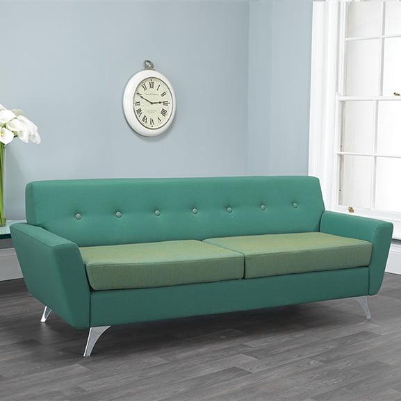 Vitality 2 seater sofa wooden base pulse design