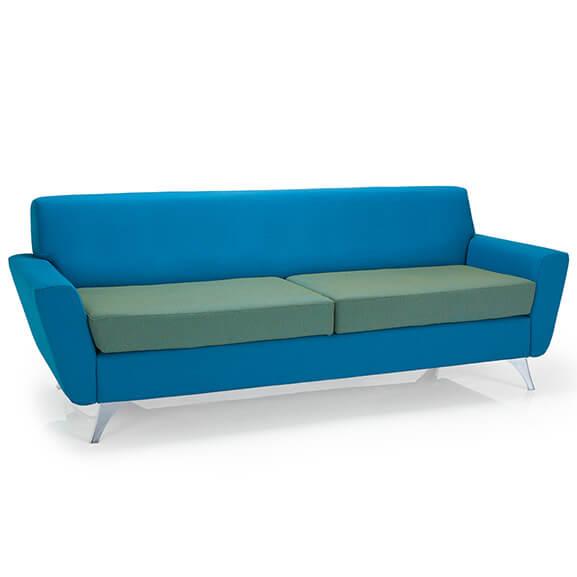 vitality 2 toned upholstery chrome frame pulse design