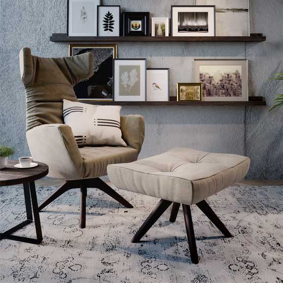 Regent Armchair connection seating 4 star base