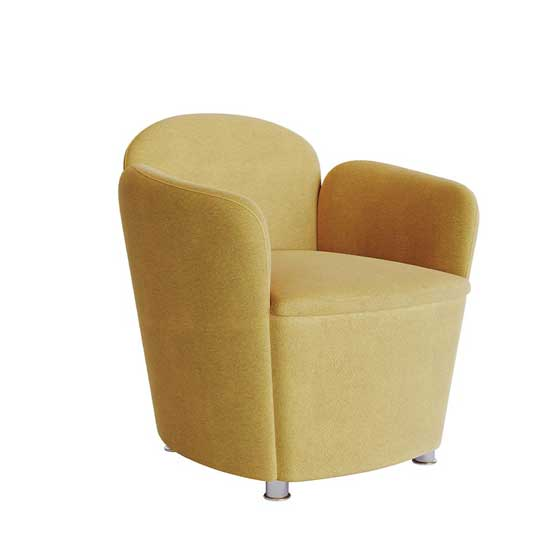 sky chair fully upholstered chrome feet air seating