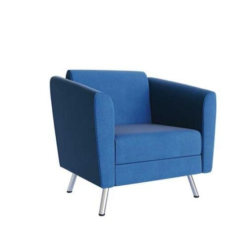 Sol Single Chair fully upholstered chrome feet air seating