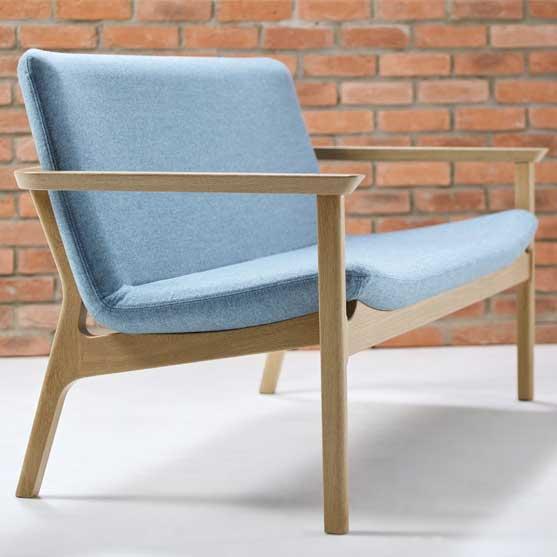 Swoosh Sofa oak frame connection seating