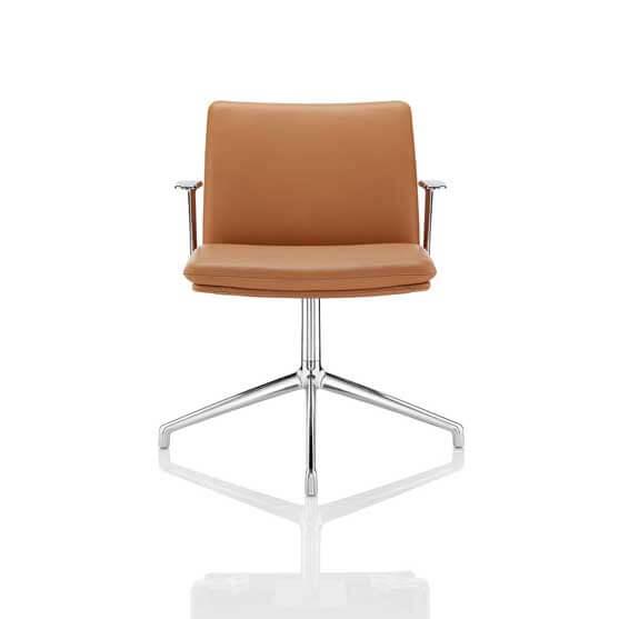 tokyo meeting chair chrome base arms boss design