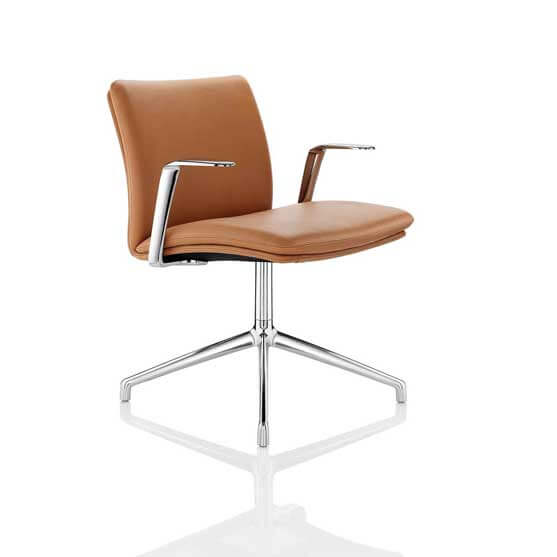 tokyo meeting chair chrome arms and base