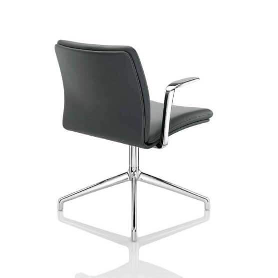 chrome base arms boss desing tokyo chair