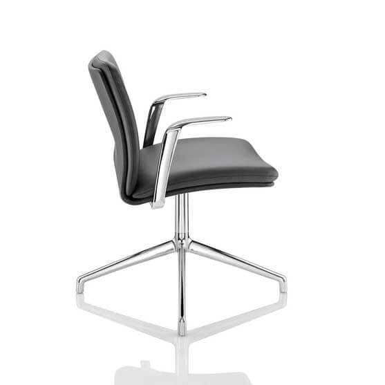 tokyo meeting chair boss design chrome arm and base