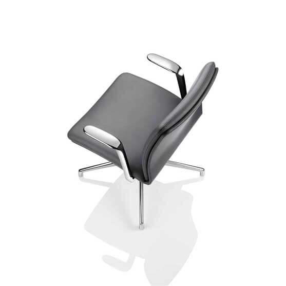 chrome arm and base 4 star bas boss design tokyo meeting chair