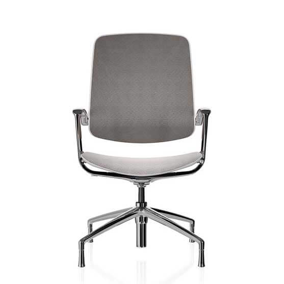 mesh back chair upholstered seat boss design trinetic