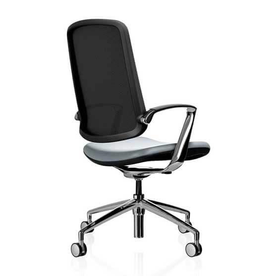 boss design mesh back upholstered seat 4 star base