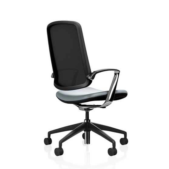 trinetic mesh chair upholstered seat 5 star base