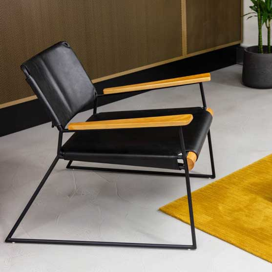 workstories sled base leather upholstered