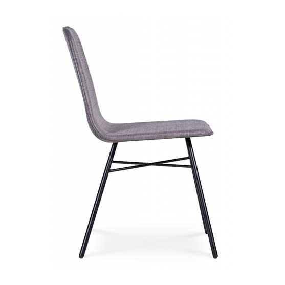 work stories 4 leg cafe chair black frame