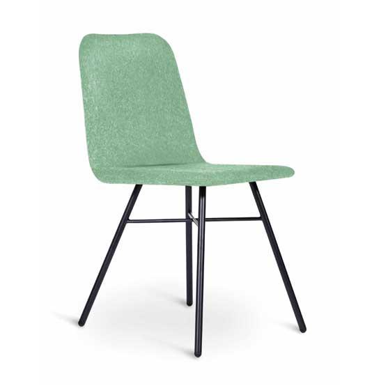 work stories upholstered fully 4 leg cafe chair
