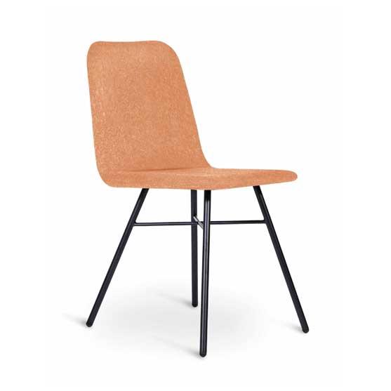 upholstered lolli cafe chair 4 leg black