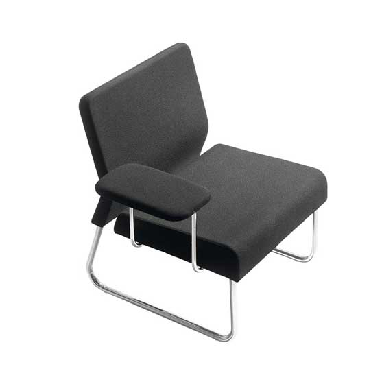 Wave modular sled base with tablet rest air seating
