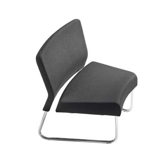 Wave narrow front sled base air seating
